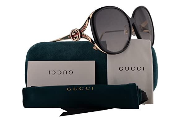 be68cd1cdd Gucci GG0226SK Sunglasses Black Gold w Grey Gradient Lens 60mm 001  GG0226 SK GG 0226 SK GG 0226SK  Amazon.co.uk  Clothing