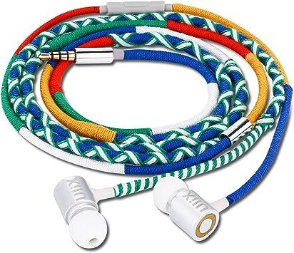 UliX Ares Auriculares In-Ear Cable Sin Nudos Teléfono Móvil ...