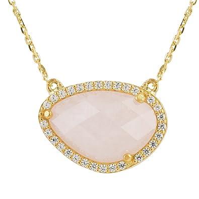 Latelita London Sofia Rose Quartz Pink Gemstone Bracelet Silver lRlpLbIR