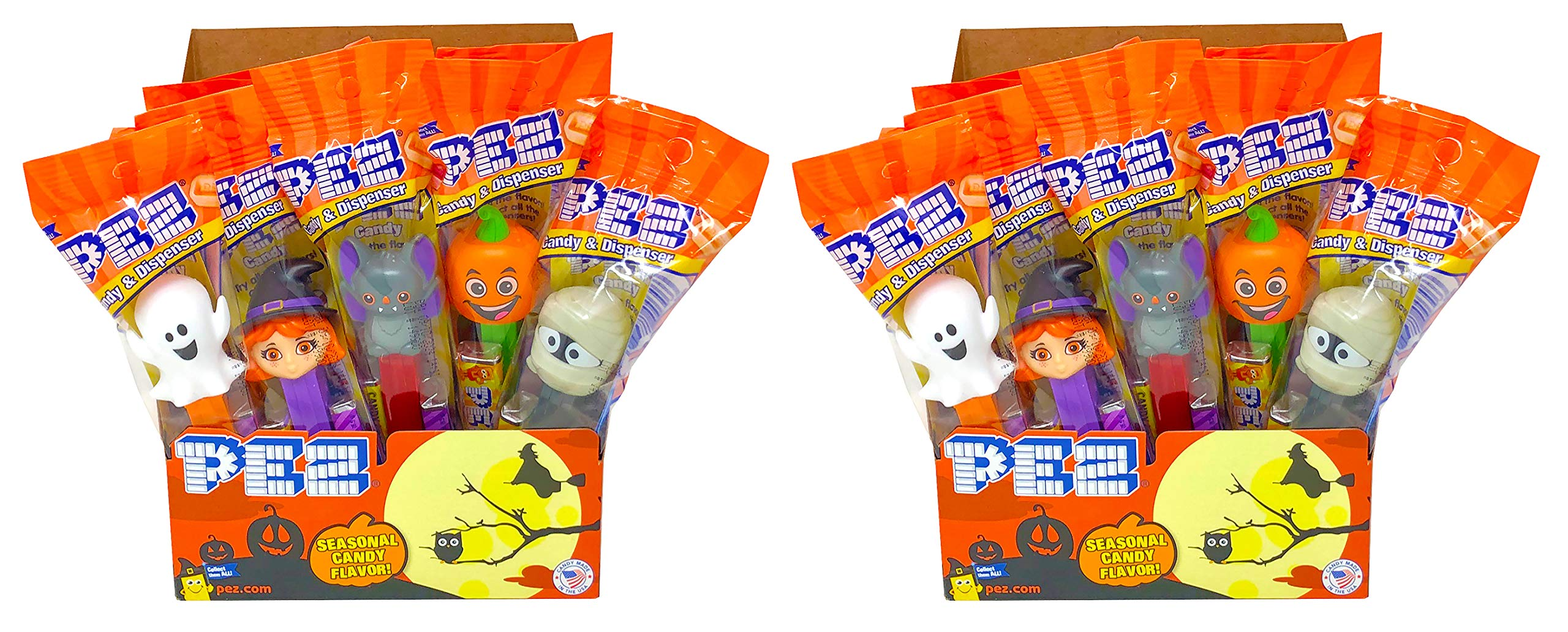 Pez Halloween Trick or Treat Individually Wrapped PEZ Candy and Dispensers with Tru Inertia Kazoo (24 Pack) by Tru Inertia