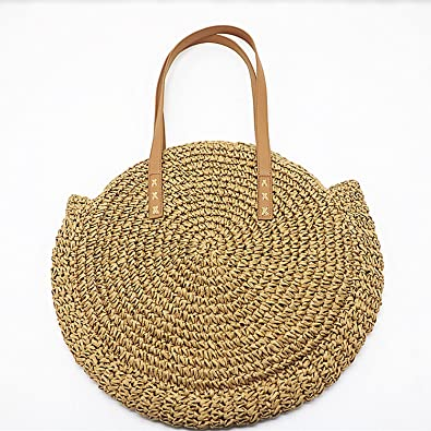 Amazon.com: Bolsas redondas de pajita para la palma de la ...