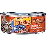 Purina Friskies Savory Shreds Chicken & Salmon Wet Cat Food, 5.50 Ounce