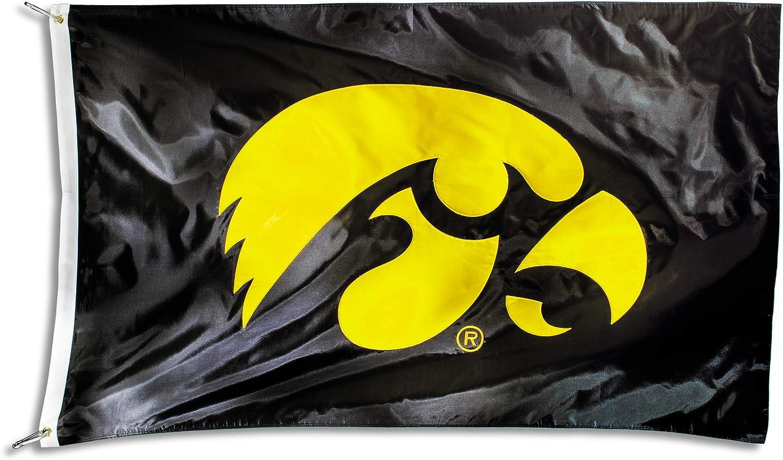 BSI NCAA Iowa Hawkeyes Unisex NCAA 2-Sided Nylon Applique Flag with GrommetsNCAA 2-Sided Nylon Applique Flag with Grommets Yellow one Size