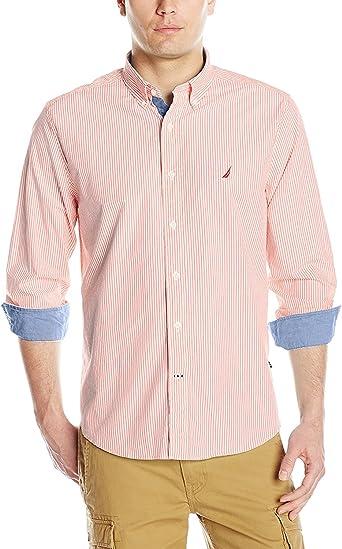 Nautica Camisa de popelina a rayas para hombre