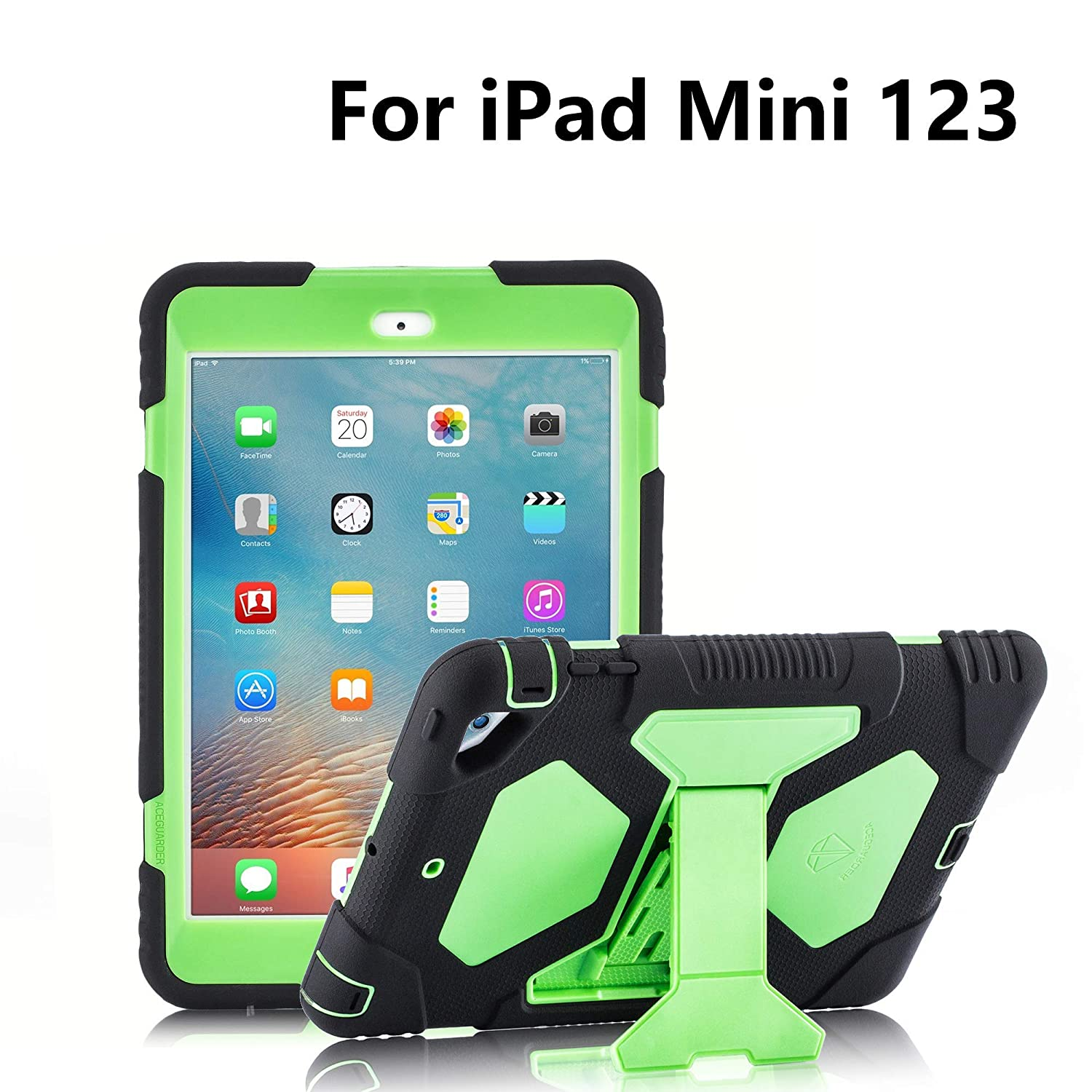 official photos 7236c ea5ae iPad Mini 3 Case, ACEGUARDER Full Body Protective Cover (Impact Resistant)  (Shockproof) (Scratchproof) with Built-in Screen Protector & Adjustable ...