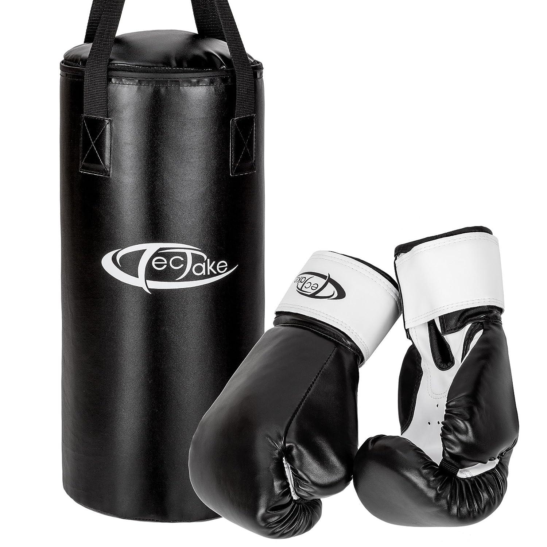 TecTake 402274 Sac de Boxe et de Sport de Combat pour Enfants avec Boxing Gants