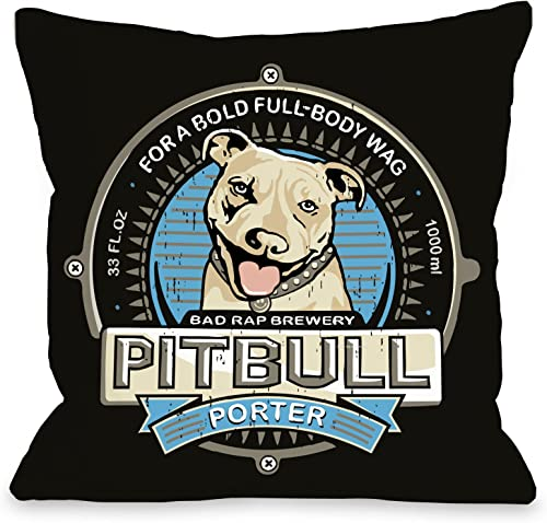 One Bella Casa Pit-Bull Porter Pillow, 26 by 26-Inch