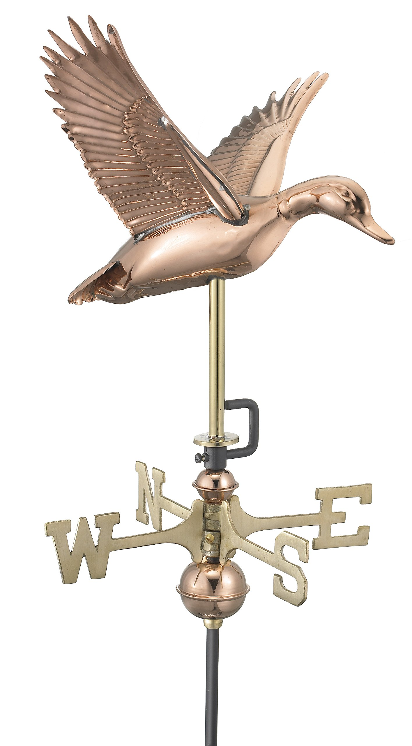 Good Directions Flying Duck Cottage Weathervane with Roof Mount, Pure Copper by Good Directions