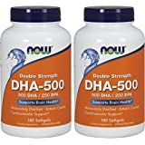 NOW Foods DHA-500, 180 Softgels (180 multi pack)