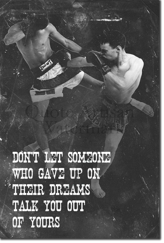 Best Quality Prints Muay Thai Motivational Poster 05'' Don't let someone. Photo Print Art Motivation Quote Gift Thai Thailand - Size: 30cm x 20cm