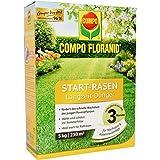 COMPO FLORANID Start-Rasen Langzeit-Dünger, 3 Monate Langzeitwirkung, Feingranulat, 5 kg, 250 m²