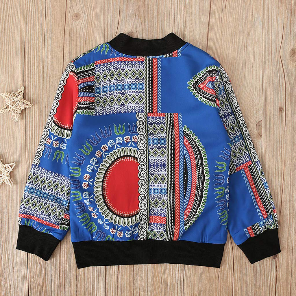 Lovely Toddler Kids Girl Boy Fall Dashiki African Windproof Coat Outwear Jacket