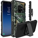 Galaxy S9 Case, Venoro Heavy Duty Shockproof Armor Holster Defender Full Body Rugged Protective Case Cover with Kickstand and Belt Swivel Clip for Samsung Galaxy S9 / SM-G960U / SM-G960F (Camouflage)
