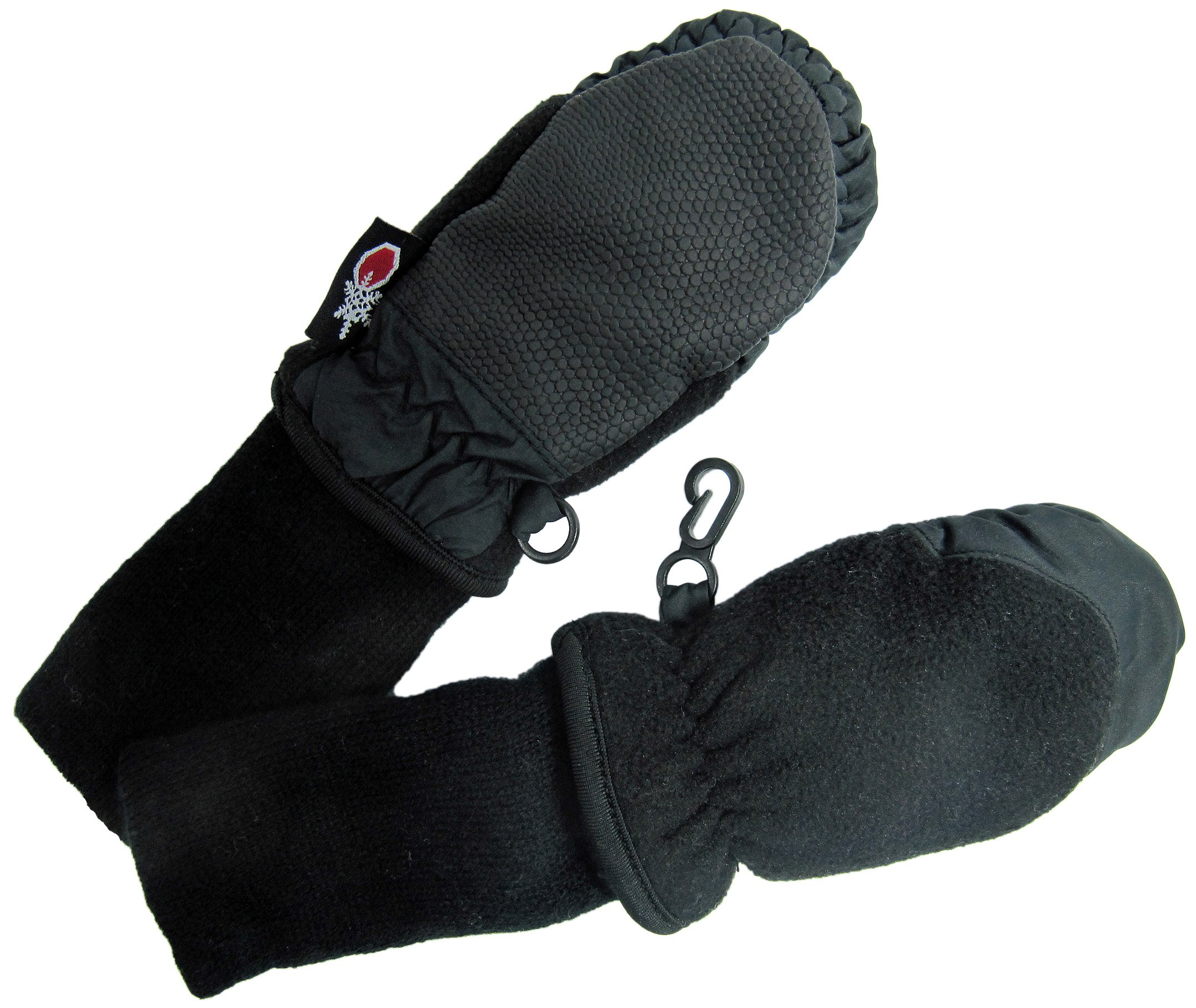 SnowStoppers Kid's Waterproof Stay On Winter Fleece Mittens Extra Small / 6-18 Months Black