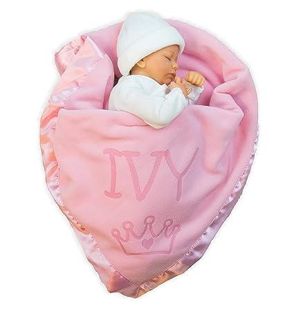 PERSONALISED BABY NAME BLANKET BIB OR MUSLIN COT BOY GIRL HEART STAR NEW GIFT