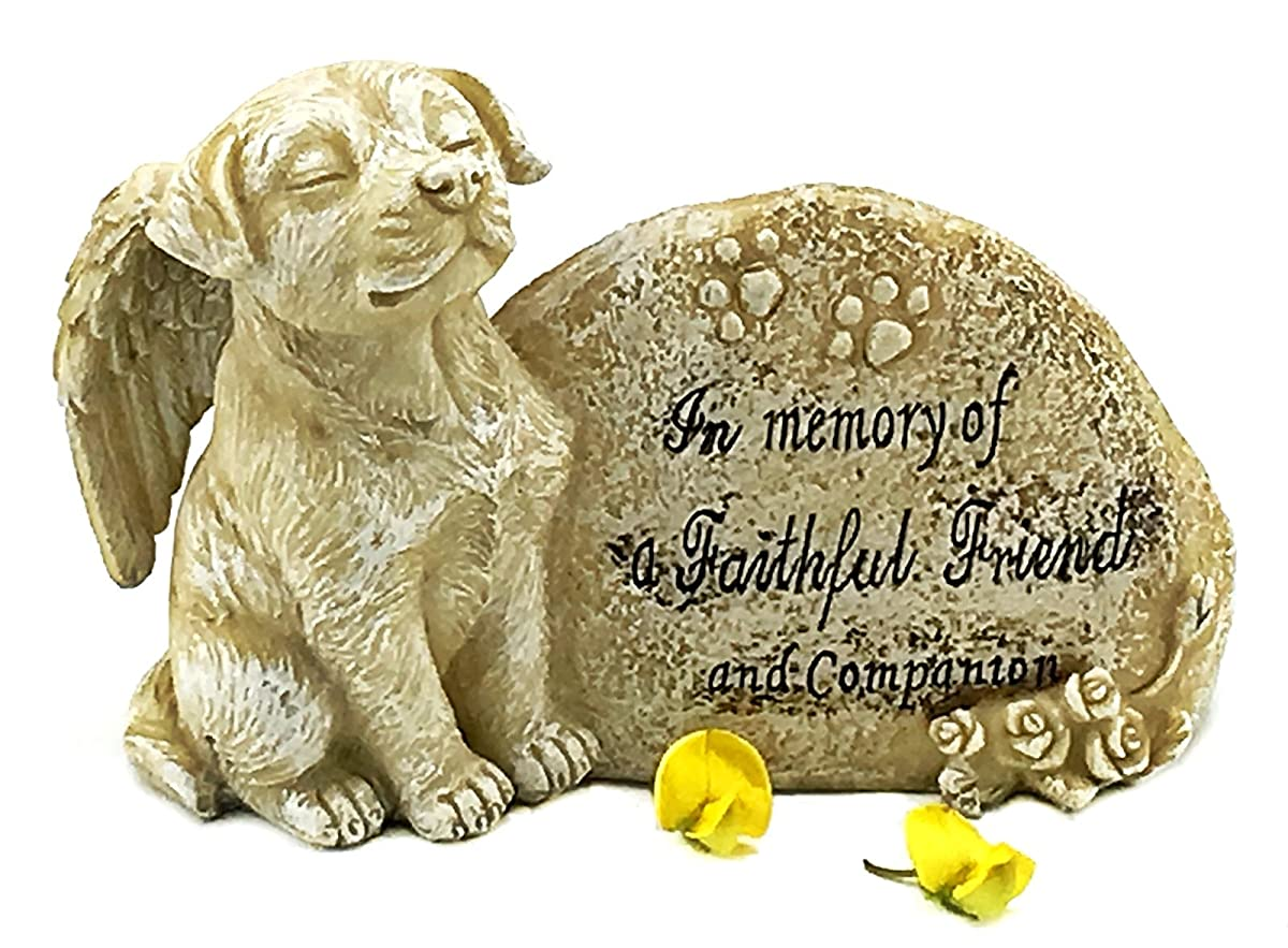 Elaan31 Dog Garden Statue Memorial Angel Pet Antique Stone In Memory Of A Faithful Friend And Companion