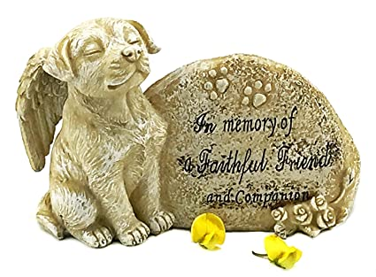 Amazon elaan31 dog garden statue memorial angel pet antique elaan31 dog garden statue memorial angel pet antique stone in memory of a faithful friend and workwithnaturefo