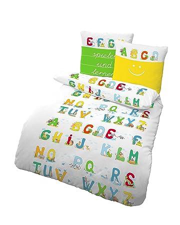 2 Tlg Bettwäsche 135 X 200 Cm Spielen Und Lernen Weiß Baumwolle B-ware Bettwäschegarnituren
