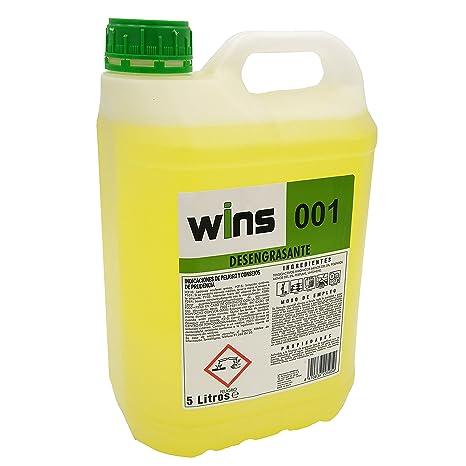 WINS 001 Desengrasante concentrado profesional 001 para multitud de superficies. Botella 5 Lt
