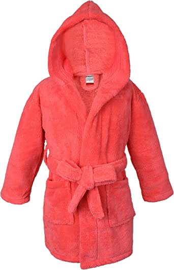 Towel Bazaar Boys and Girls Ultra Soft and Cozy Kids Plush Hooded Fleece Robe