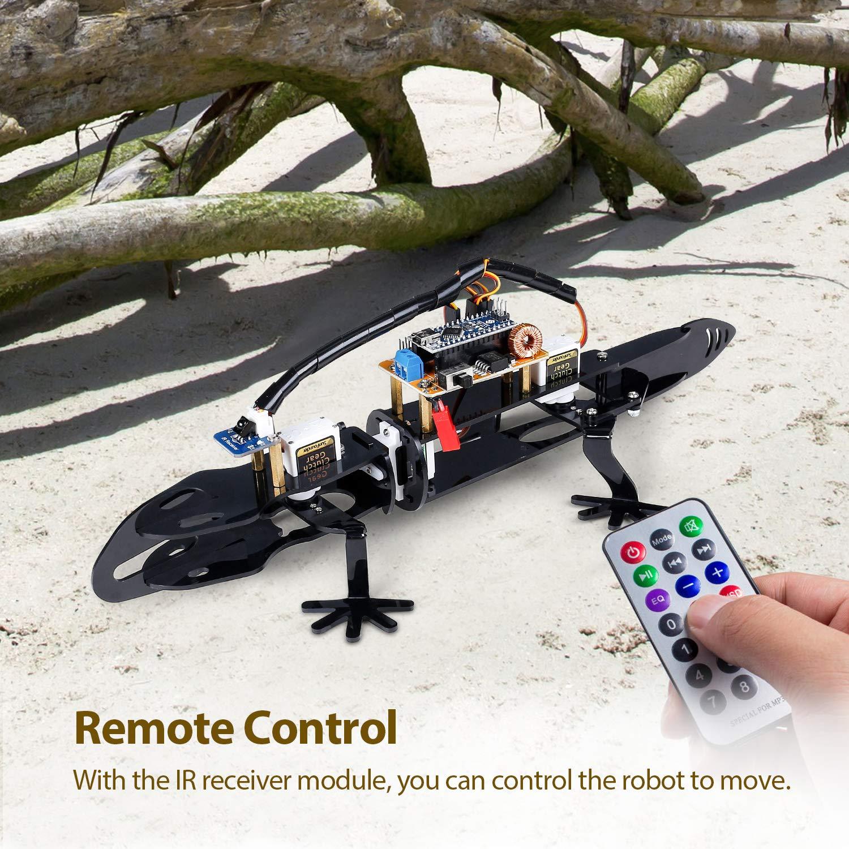 MEHRWEG SUNFOUNDER Arduino Robot Kit DIY Lizard for Beginners STEM Education with IR Receiver Module,Detailed Manual