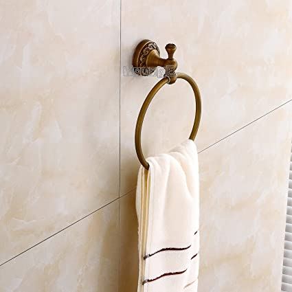 Amazon Com Younge Antique Brass Towel Ring Bathroom Accessories