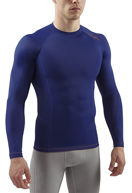 Sub Sports RX T-Shirt de Compression Manches Longues Homme, Bleu Marine, FR 17aa12f1019a