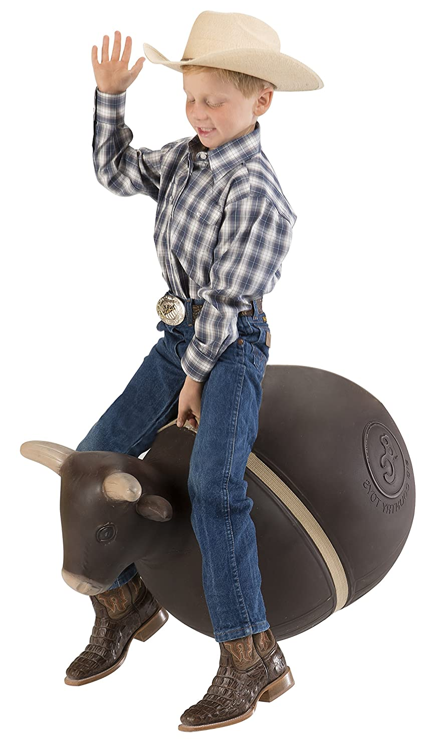 Big Country Toys Bouncy Bull Kids Hopper Toys Bull Riding Rodeo Toys Inflatable Ball with Handle Patented Design