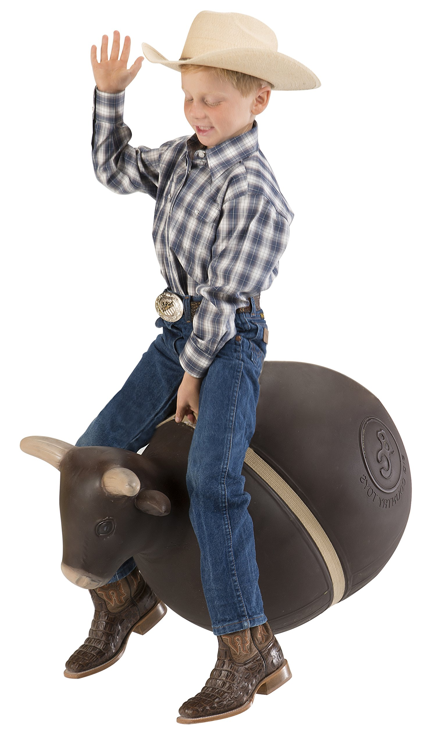 Big Country Toys Bouncy Bull - Kids Hopper Toys - Bull Riding & Rodeo Toys - Inflatable Ball with Handle