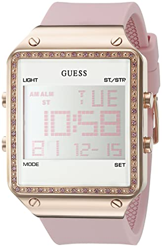 Amazon.com  GUESS Women s Digital Silicone Watch, Color  Pink (Model   U0700L2)  Watches 930580ef4f5
