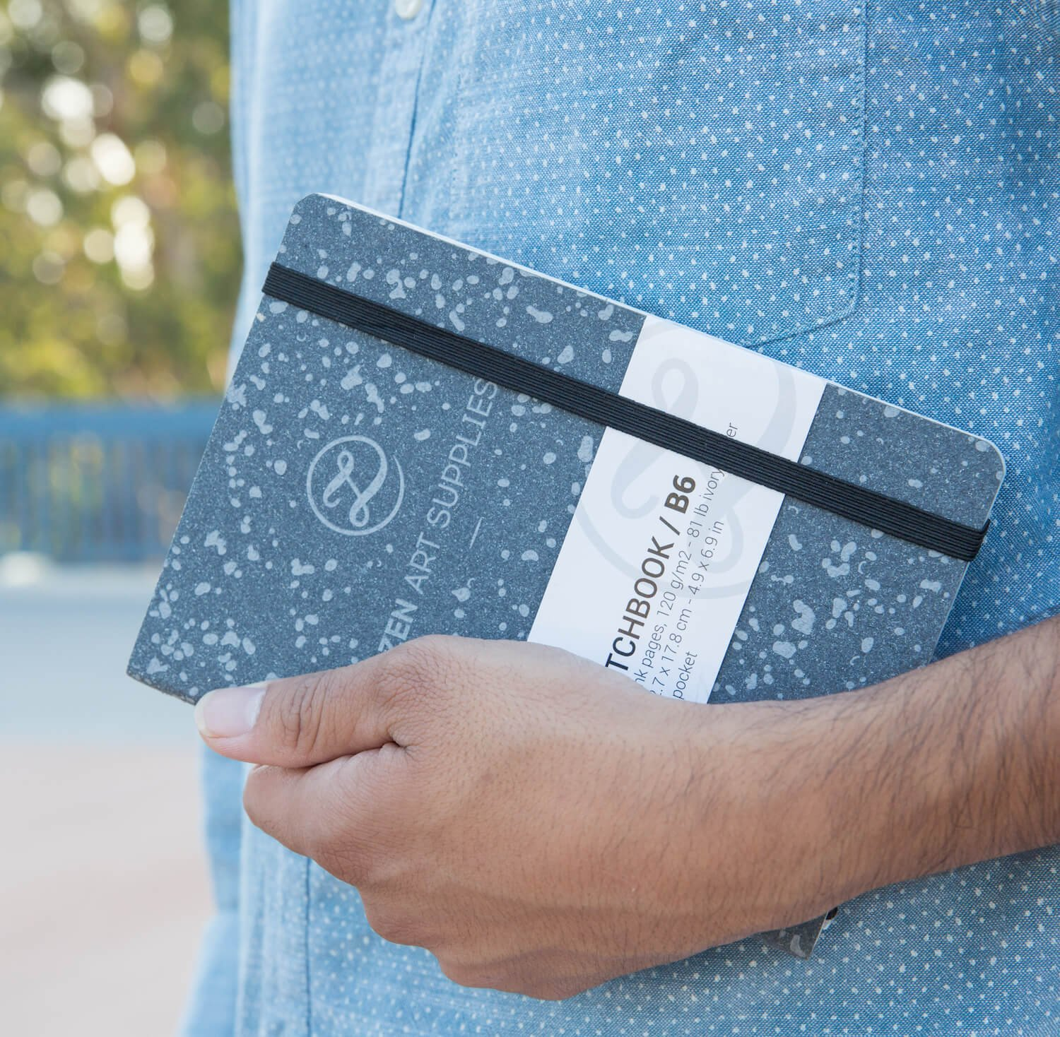 """Inner Pocket 2 Bookmarks /& Elastic Band 160 Blank Pages of Smooth 120 GSM Acid-Free Ivory Paper ZenArts B6 5/""""x7/"""" Durable Engineered Leather Cover Sketchbook Journal"""