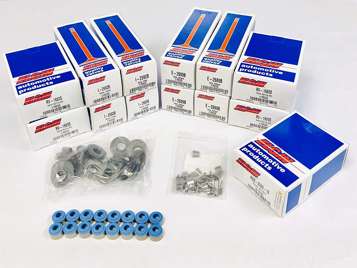Chevy GMC 350 5.7 5.7L VORTEC Engine VALVE Train Kit Valves+Springs+Retainer+Locks+Studs Stock Replacement