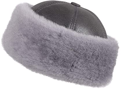 a12c2e14234bf Amazon.com   Zavelio Unisex Shearling Sheepskin Winter Fur Beanie ...