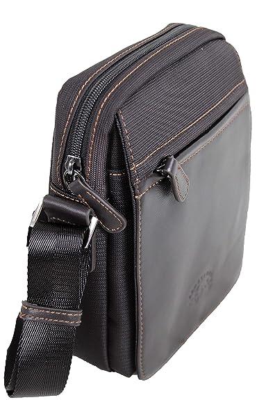 27b6af39be Francinel sac bandoulière en nylon garni cuir réf 653105 + CADEAU SURPRISE  (marron)