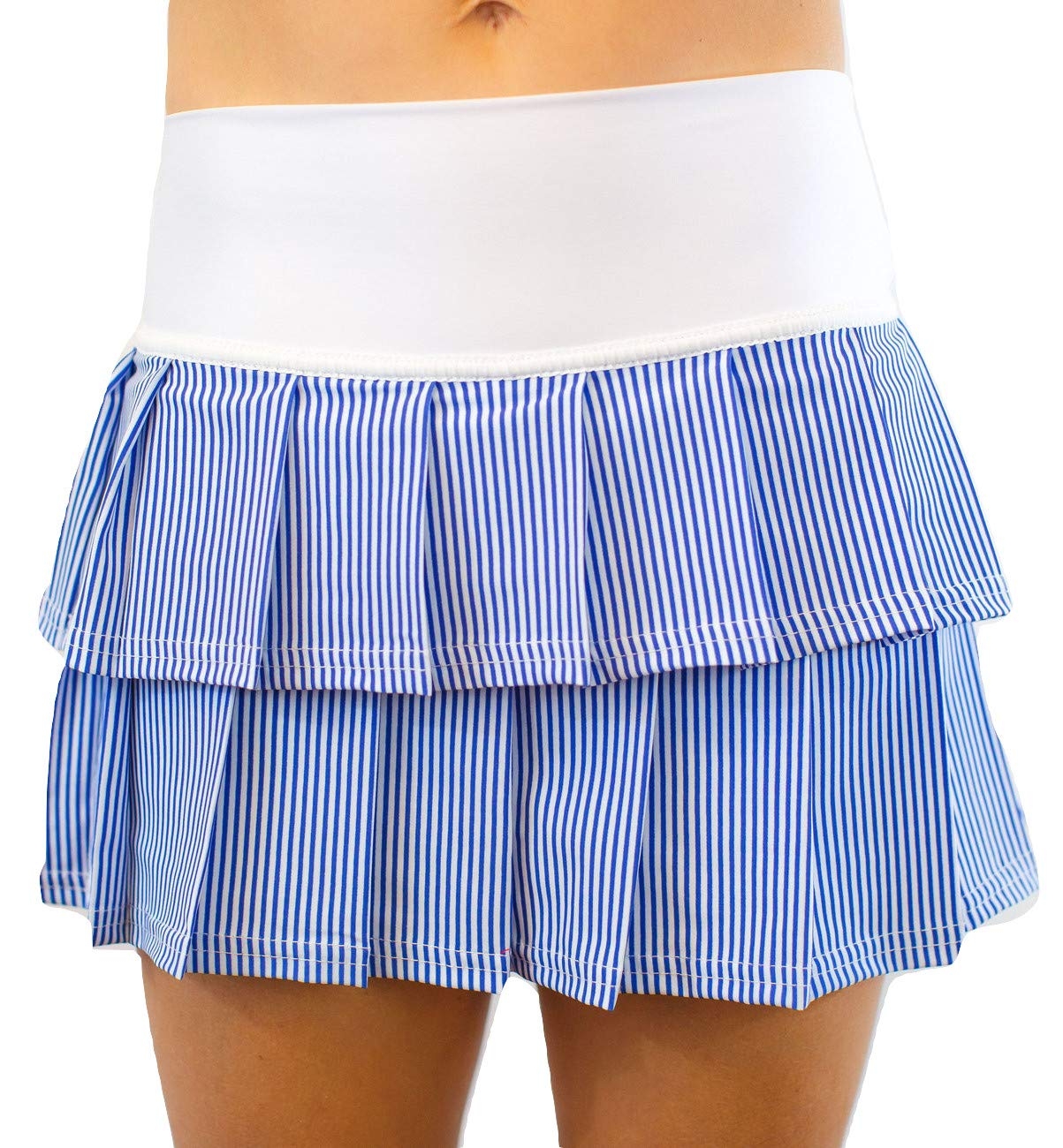 Faye+Florie Lisa 2 Tier Tennis Skirt (Seersucker, X-Small)