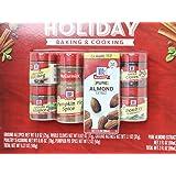 McCormick Holiday Pack Ground Nutmeg 1.1 Oz, Ground Allspice 0.9 Oz, Pumpkin Pie Spice 2 Oz, Almond Extract 2 Oz, Whole Clove