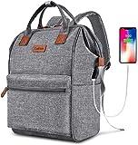BRINCH Laptop Backpack 17.3 Inch Wide Open Computer Backpack Laptop Bag College Rucksack Water Resistant Business Travel…