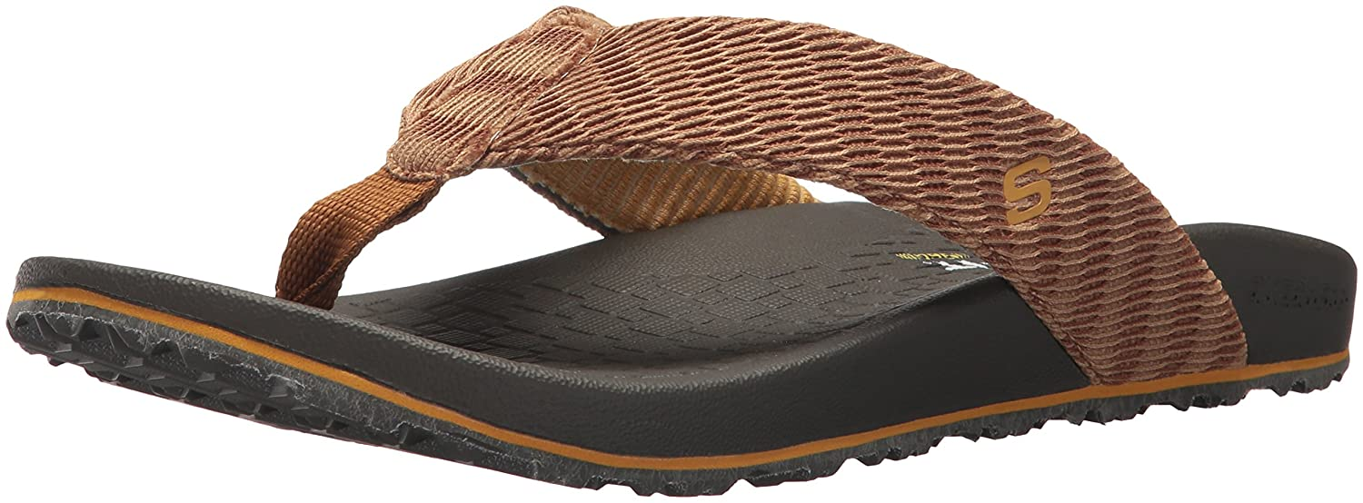 skechers relaxed fit memory foam mens flip flops
