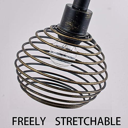 Black Industrial Pendant Lighting Metal Vintage Hanging Light Fixture