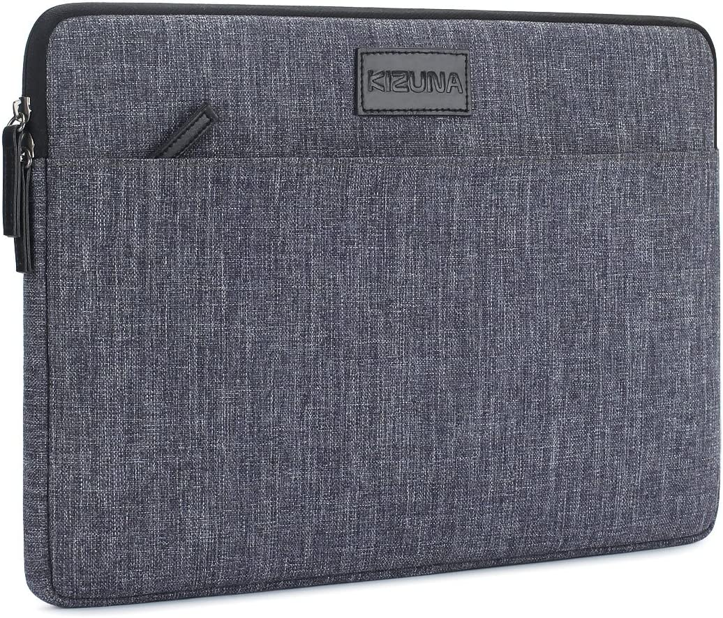 "KIZUNA 12.5-13 Inch Laptop Sleeve Computer Case Water Resistant Bag for 13.3"" MacBook Air 2020/Lenovo Yoga 730 720 C940/13.9"" Huawei MateBook X Pro/MateBook 14/Surface Laptop 3/DELL 7390/Asus,Grey"