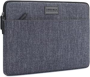 "KIZUNA 15.6 Inch Laptop Sleeve Case Water Resistant Computer Carrying Bag for 16"" MacBook Pro/15.6"" Lenovo Yoga 730/Flex 15/Ideapad 330/HP EliteBook 755 G5/ASUS ROG Zephyrus/Dell XPS 15/Dell G3,Grey"