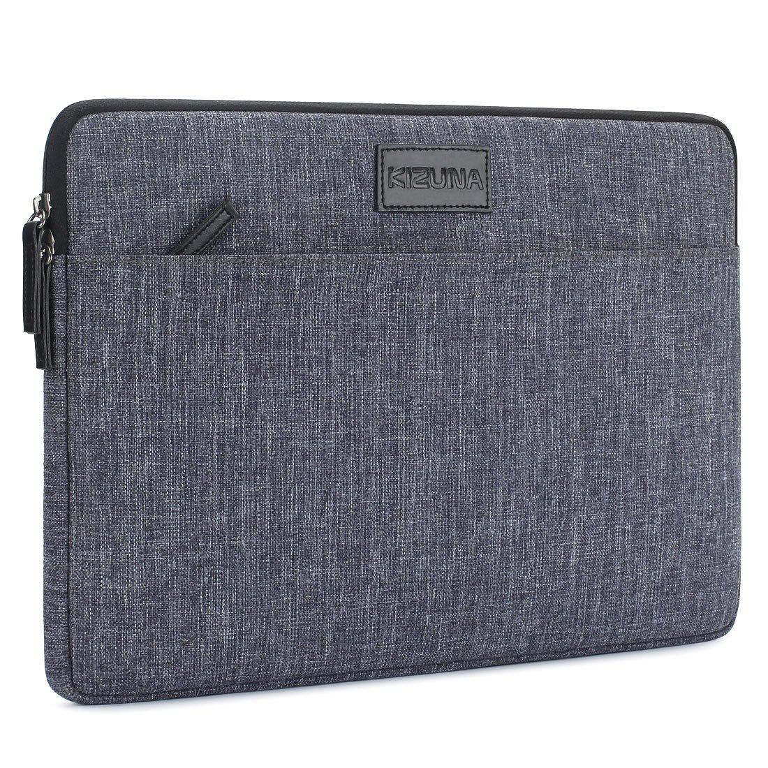 KIZUNA Laptop Sleeve 13 Inch Water-Resistant Shockproof Notebook Case Carrying Bag for 13.3'' Computer / 13'' MacBook Pro / 13.9'' HUAWEI MateBook X Pro, Grey