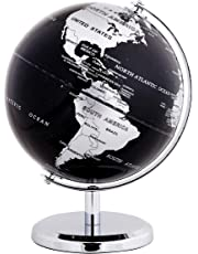 EXERZ World Globe - Stainless Steel Ring Standing, Packaging in Premier Kraft Box, Perfect for Gifting - Metallic