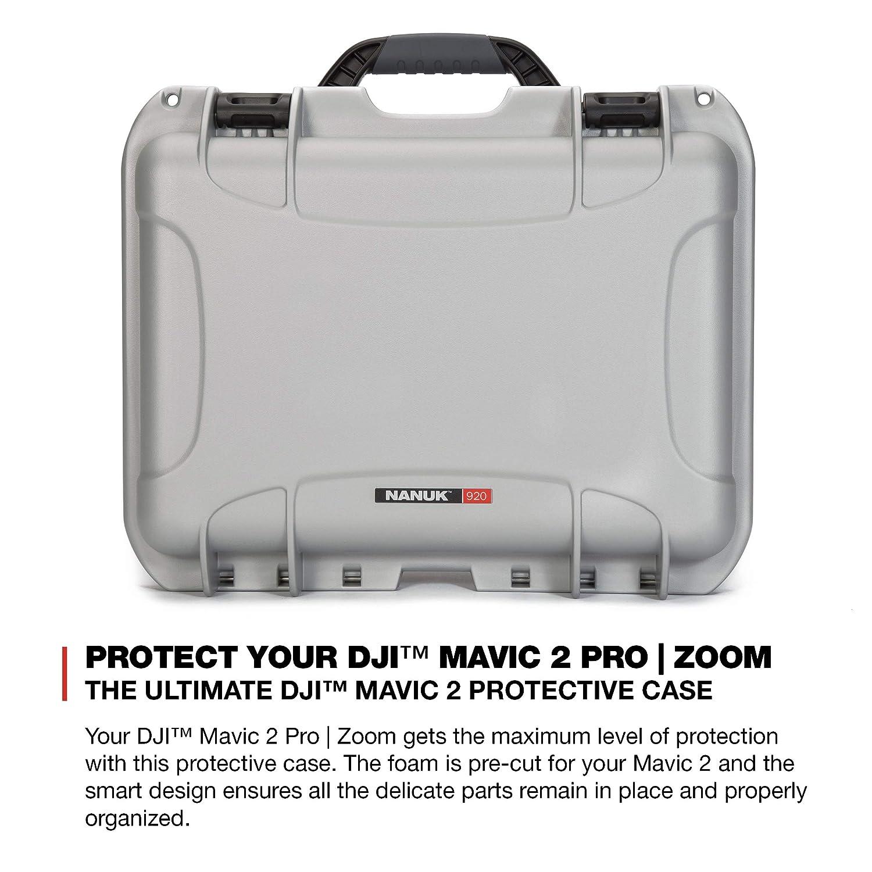 Nanuk DJI Drone Waterproof Hard Case with Custom Foam Insert for DJI Mavic  2 Pro/Zoom - Silver - Made in Canada