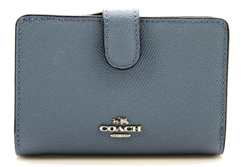 3d9129bdc72cf COACH Medium Corner Zip Wallet in Dusk Blue  Amazon.co.uk  Clothing