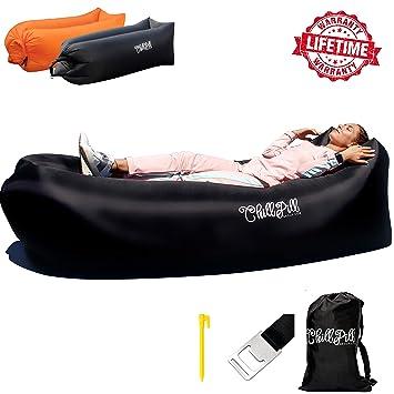 Amazon.com: ChillPill - Tumbona inflable cómoda para uso al ...