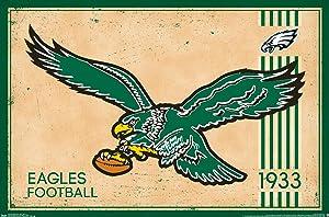 Trends International Philadelphia Eagles Retro Logo Wall Poster 22.375
