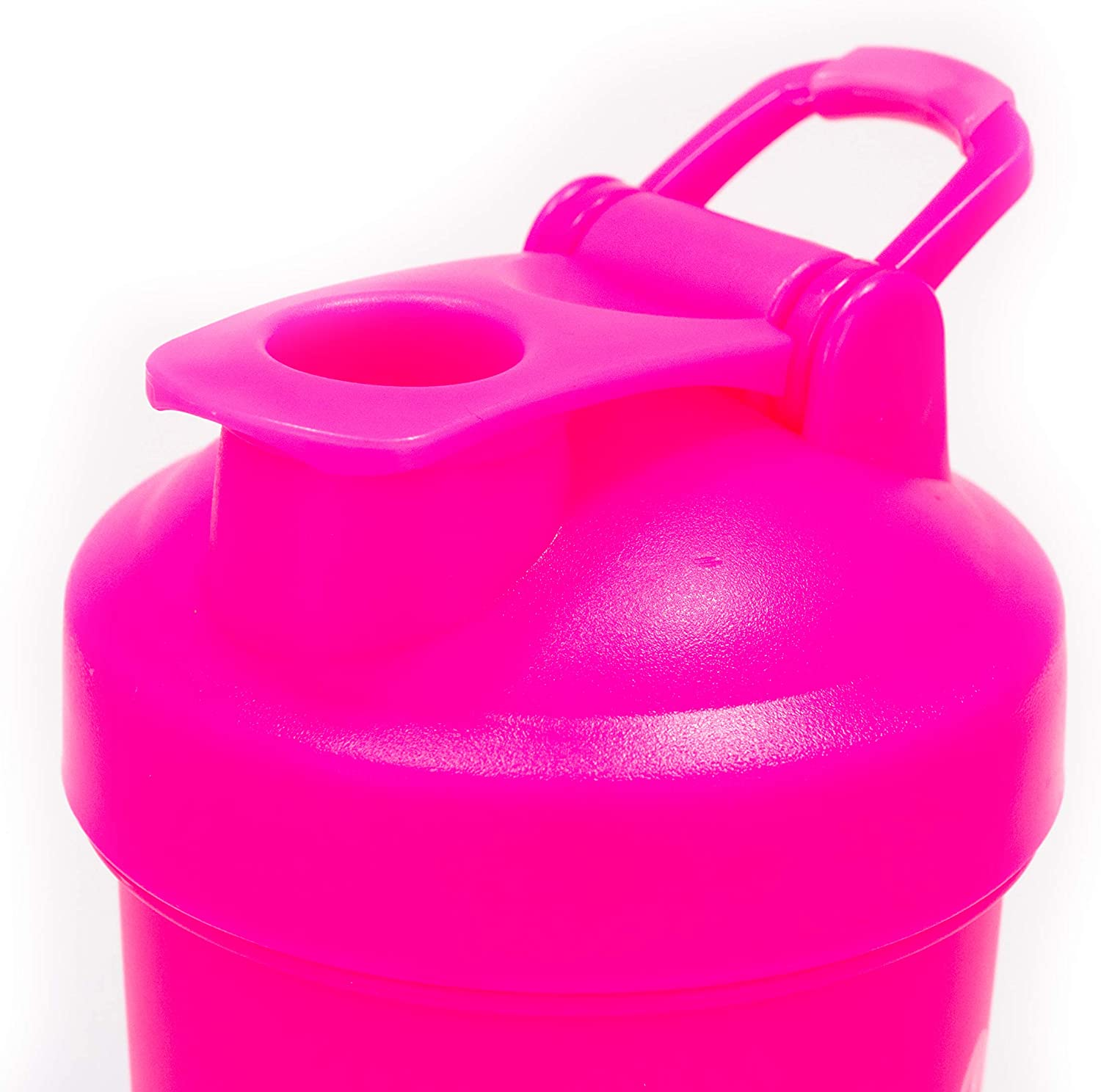 Idouma Protein Shaker Bottle w/Straw 20 oz Pink | Tumbler Mixer Blender w/Ball Loop Top | Spill and Leak Proof | Great Bottle for Workouts and Exercise Mixes