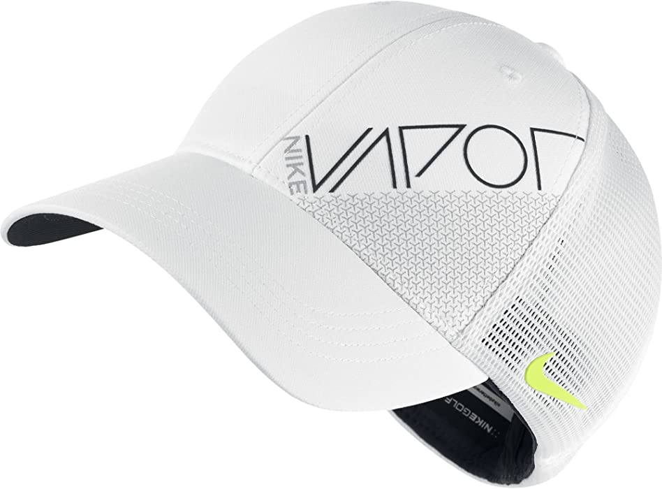 aafb1c9e659 Nike New 2015 Golf True Vapor Legacy Mesh Fitted Hat Color  White Size  XL