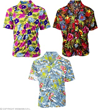 WIDMANN ? cs924310 ? Disfraz ? Camisa Hawaii ASS, Azul ...
